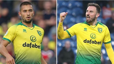 Moritz Leitner, left, and Josip Drmic have not been involved at Norwich City this season Pictures: P