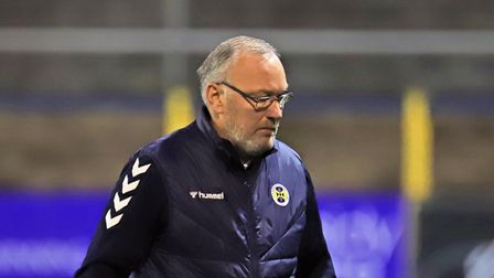 Manager of St Albans City FC Ian Allinson
