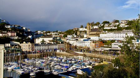 Sailing vessels in Torquay Harbour