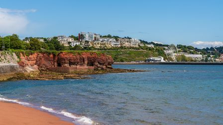 Livermead, Torbay, England, UK - June 06, 2019: View towards Torquay