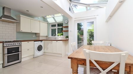 The kitchen/breakfast room opens out onto the rear garden.