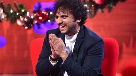 EDITORIAL USE ONLY Nish Kumar during the filming for the Graham Norton Show at BBC Studioworks 6 Tel