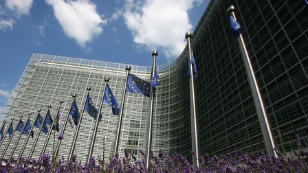 The Berlaymont building, headquarters of the European Union Commission in Brussels, Belgium. Picture