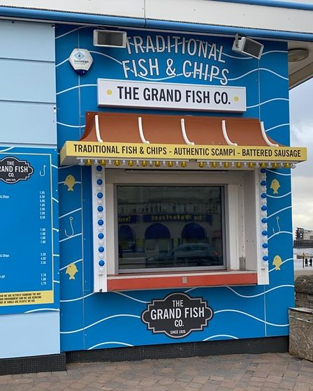 Grand Pier fish and chips stand.