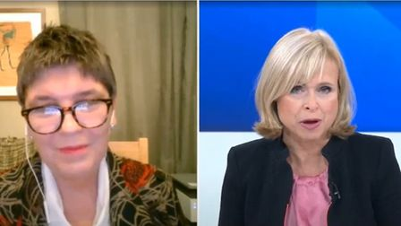 Claire Fox tells Sky News presenter Anna Botting that coverage of Brexit needs to be more positive