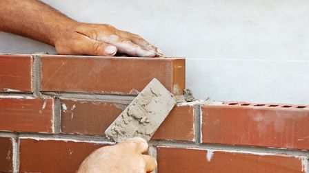 Turns out Richard's DIY skills don't stretch to bricklaying.