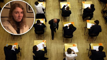 File photo dated 07/03/12 of a general view of pupils sitting an exam. All exams in Scotland have be