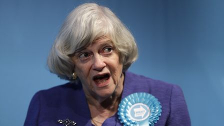 Ann Widdecombe, Brexit Party member and former member of parliament for the Conservative Party. (AP