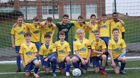 St Albans City Youth's U14 Orient pictured in January 2020.