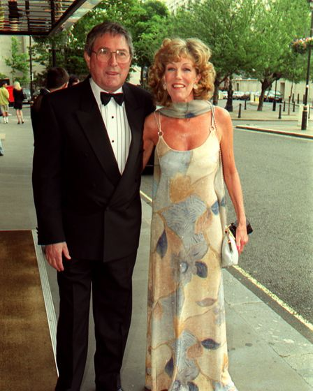 Sue Nicholls, who plays Audrey Roberts in Coranation Street, with her husband Mark Eden (who played