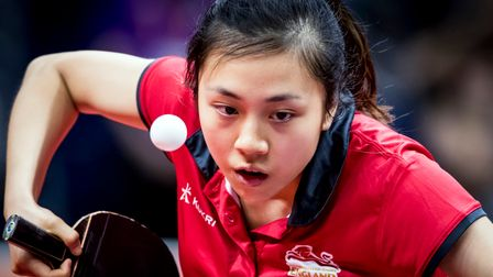 England's Ho Tin-Tin competes during the Women's Team Semifinals at Oxenford Studios during day four