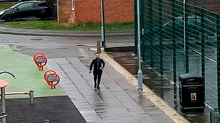 A CCTV image of a man in Ipswich