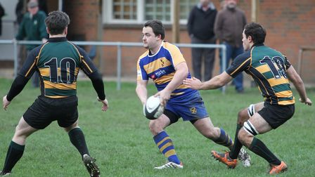 Harry Trude in action for St Albans Rugby Club