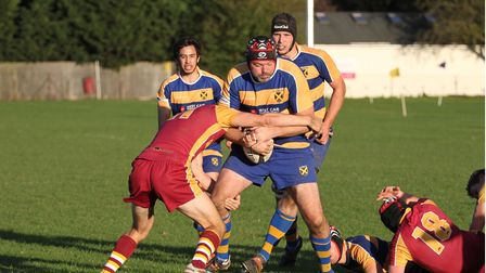 Daniel Satchell in action for St Albans Rugby Club