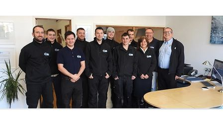 Picture of workers from a Torbay company