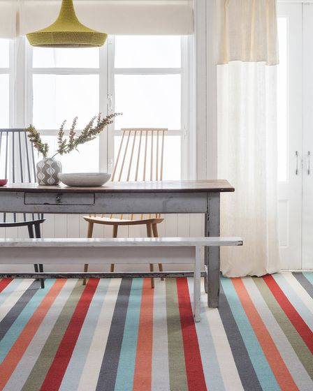 Stripy modern carpet available from Charles Wilson Carpets