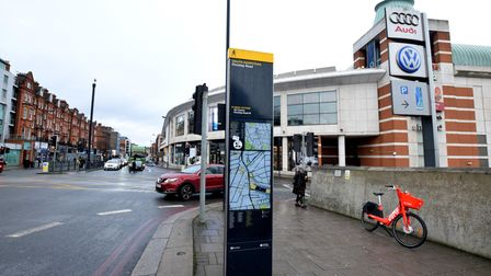 Signage outside of the O2 Centre in Finchley Road