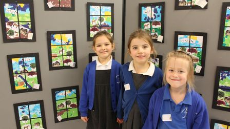 Beautiful artwork was created by the children who were inspired by famous artists