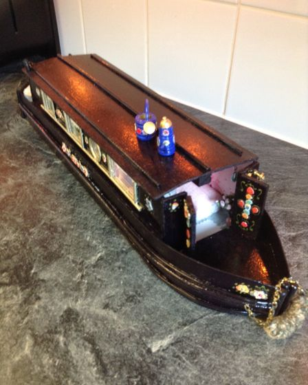 A canal boat, handmade by Ally