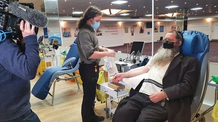 Eli Sufferen of Stamford Hill has already given his antibody-rich plasma five times