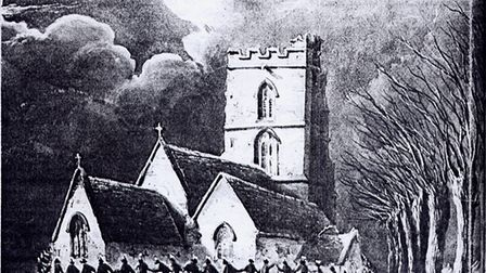 'Clipping the church' at Rode in 1848, which looks very pagan but was by then a Christian ceremony