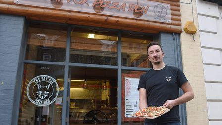 Richard Chisnell, owner of The Fat Fox Pizza Den on Prince of Wales Road in Norwich. Picture: Daniel