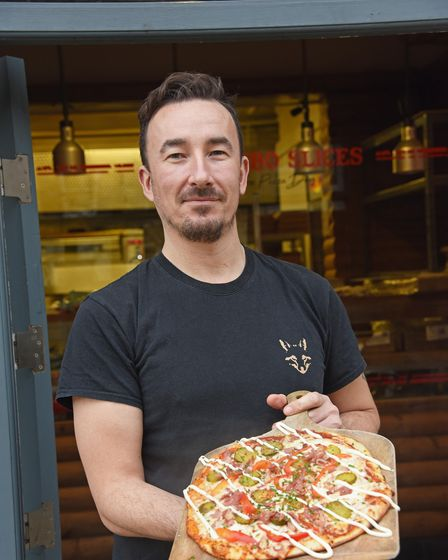 Richard Chisnell, owner of The Fat Fox Pizza Den in Prince of Wales Road in Norwich. Picture: Danielle Booden
