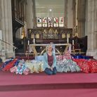 Sarah Kelly with presents
