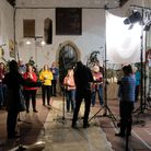 Pakefield Singers recording during First Light Festival – Winter Solstice.