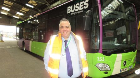 Stephen Bryce, general manager of Ipswich Buses