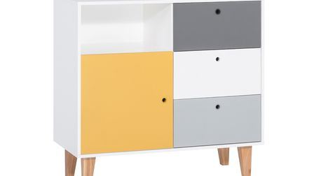 Vox Concept Chest of Drawers in Grey and Yellow, Cuckooland.