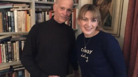 You're booked podcast presenter Daisy Buchanan with John Waters. Photo: Twitter