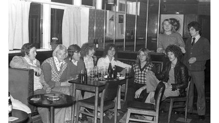 Customers at the Smock pub in Ipswich in 1974