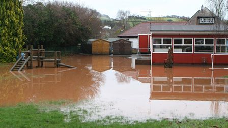 Tipton Primary School flooded in 2008