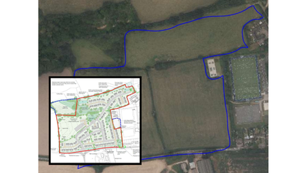 The planned area for the relocation of Tipton Primary School