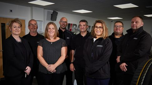 The team at Bartletts automotive in Huntingdon
