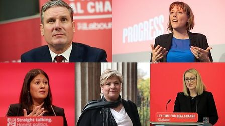 Labour leadership contenders Keir Starmer, Jess Phillips, Lisa Nandy, Emily Thornberry and Rebecca Long-Bailey.