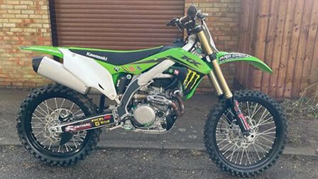 Have you seen this stolen green Kawasaki motorbike?