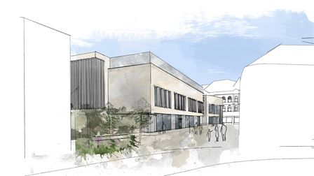 A visualisation of the newCentral Ipswich Primary School planned for Carr Street, Ipswich, on the site of the former Co-op