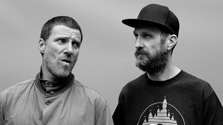 Jason Williamson (l) with Sleaford Mods bandmate Andrew Fearn