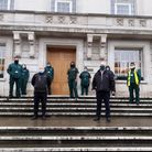 The council's Environmental Services team at Hackney Town Hall.