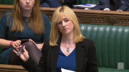Labour MP for Canterbury, Rosie Duffield, previously in the House of Commons. Photograph: PA.