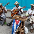 Musicians perform on the street in Old Havana