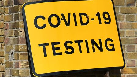 A testing centre sign.