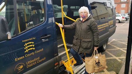 Woman with minibus