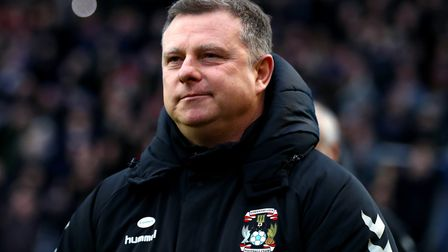 Coventry City manager Mark Robins during the FA Cup fourth round match at St Andrew's Trillion Troph