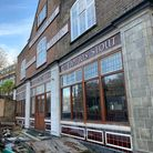 The rebuilt Carlton Tavern, pictured when hoardings came down in January 2021.
