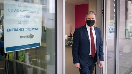 Labour leader Sir Keir Starmer visits the Sir Ludwig Guttman Health and Wellbeing Centre in Stratfor