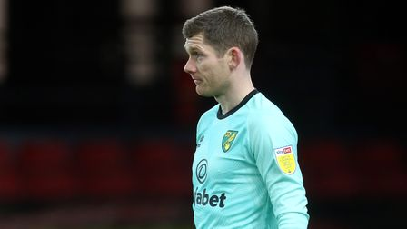 Michael McGovern of Norwich during the Sky Bet Championship match at Vicarage Road, Watford Picture