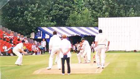 Cricket match in Torquay with Gary Kirsten batting for South Africa